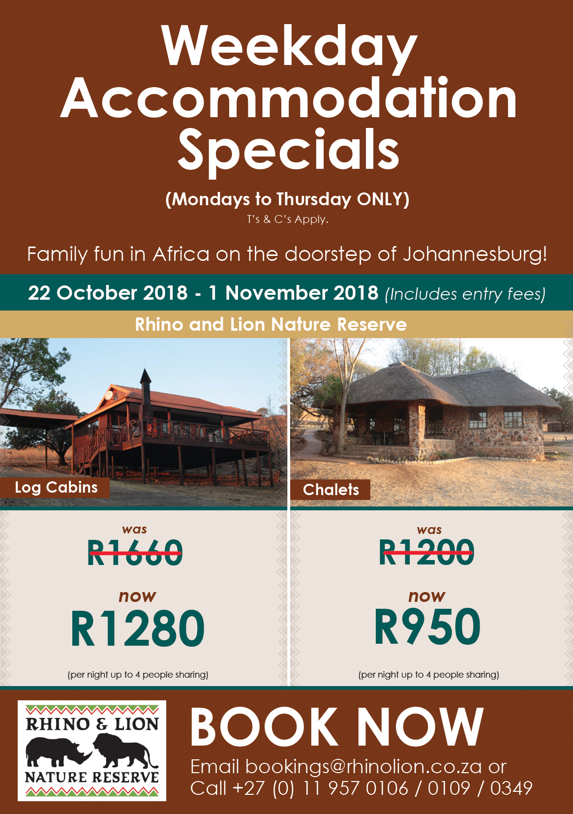 Weekday Accommodation Specials