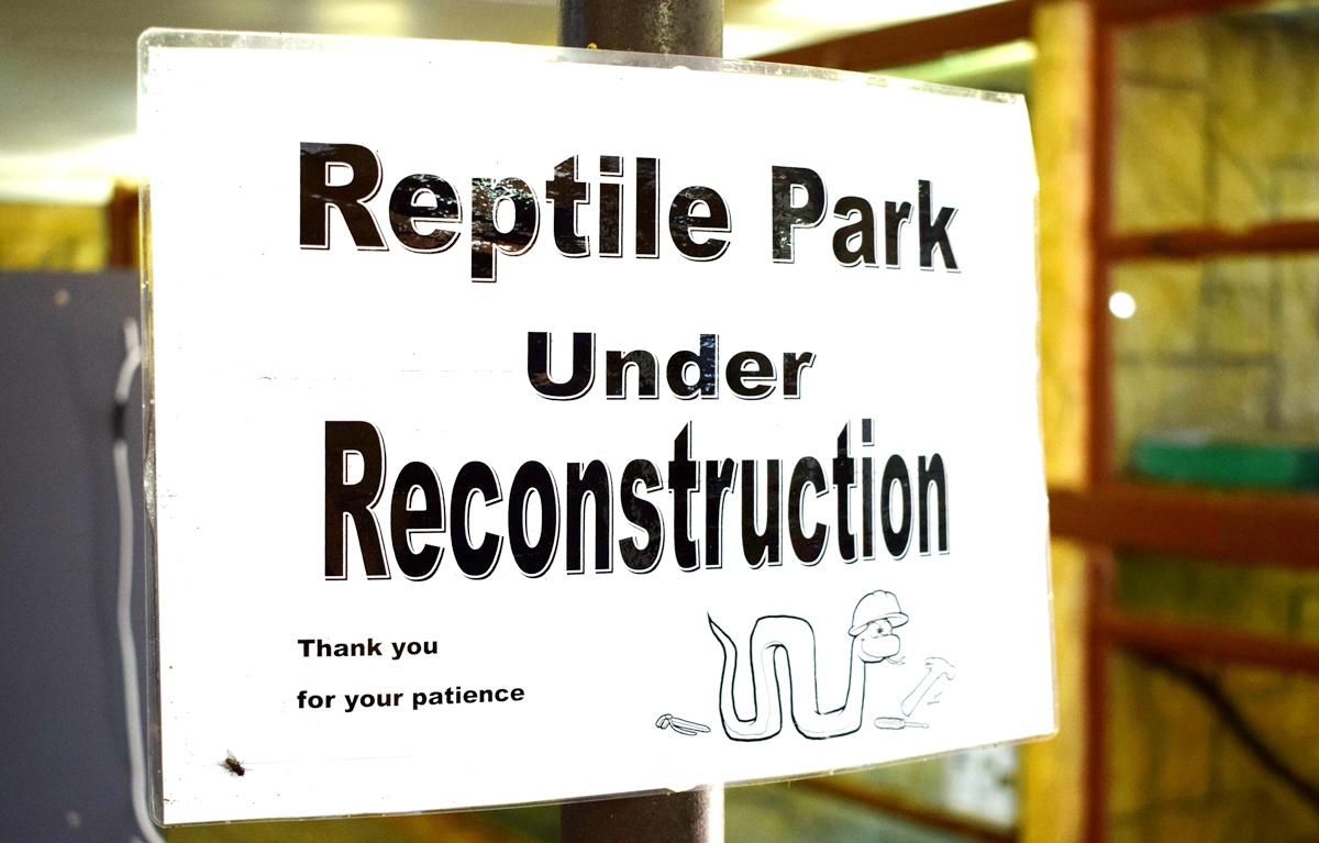 Reptile Park Undergoing Refurbishment
