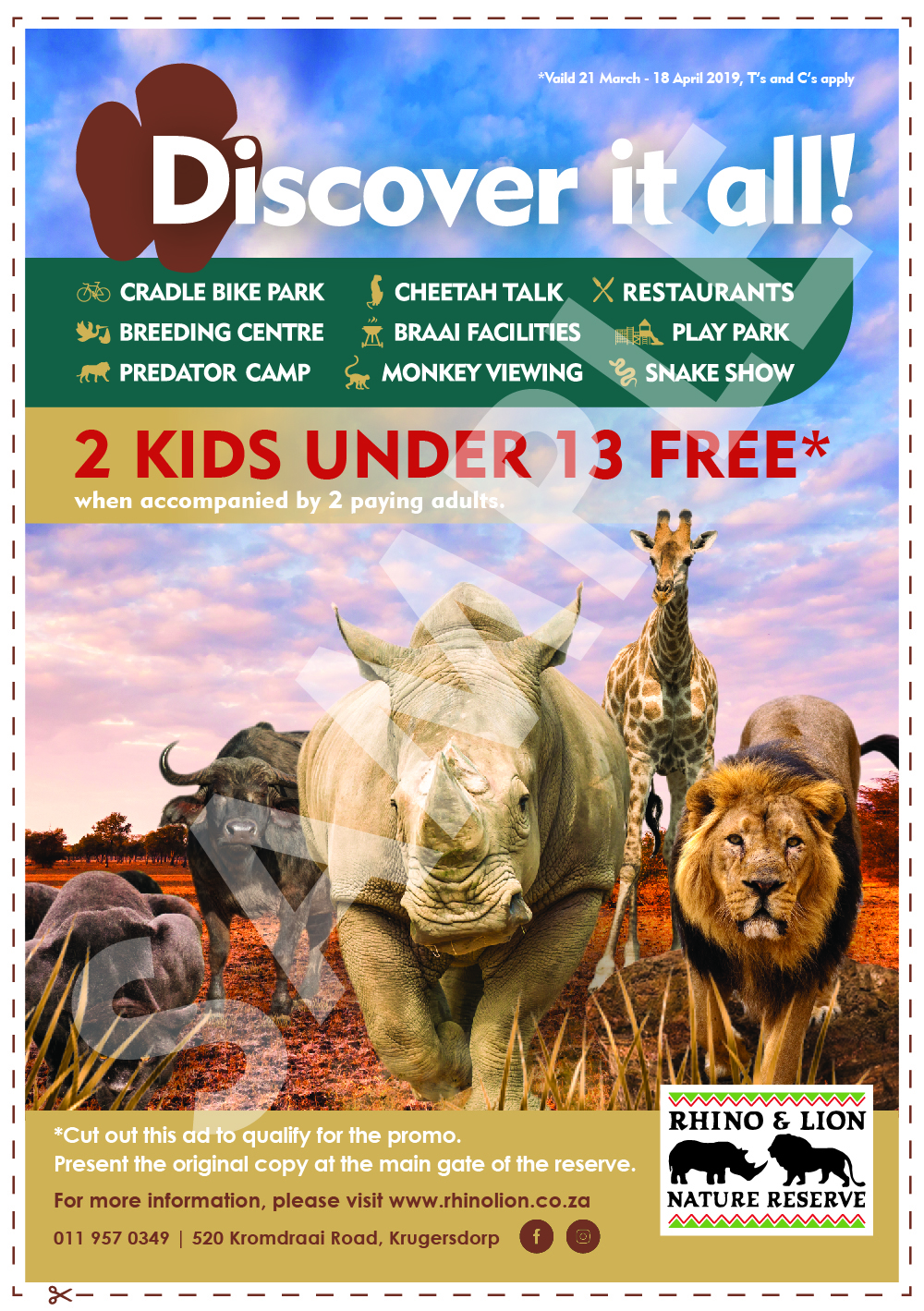 Rhino & Lion Nature Reserve Discover it all!