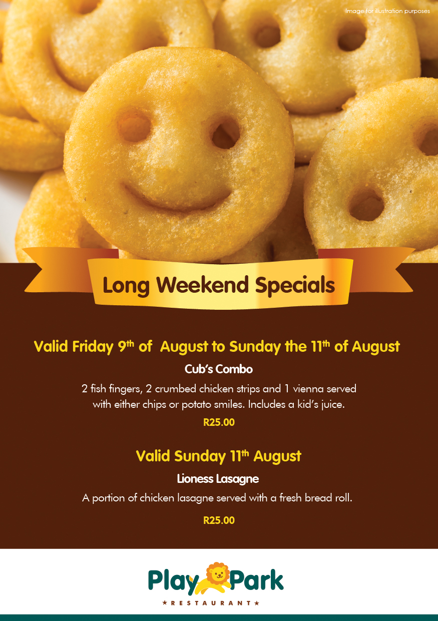 Play Park Long Weekend Specials
