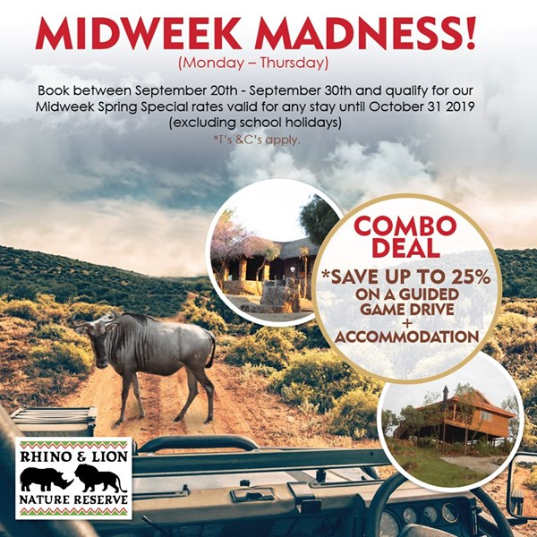 Accommodation Specials – Midweek Madness