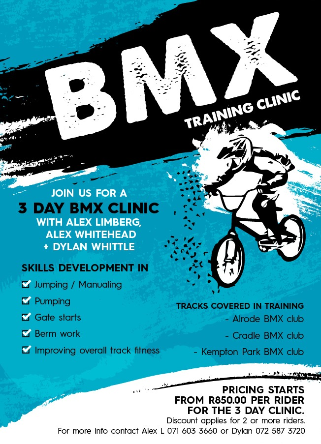 This Sunday 15/12/2019  the Cradle bike park  will host the BMX training clinic
